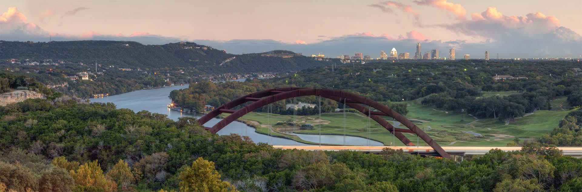 Bridge view of Austin, TX